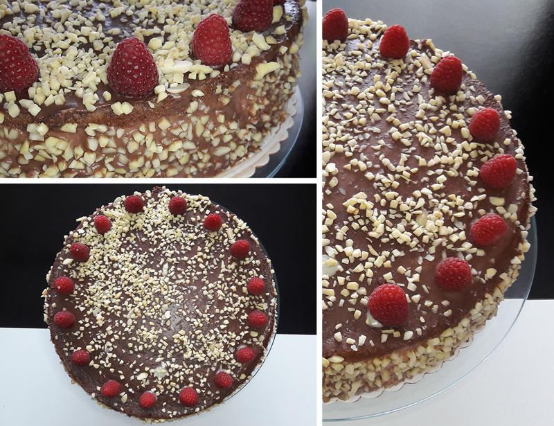 Himbeer Schoko Nuss Torte Tortentraeume Blog